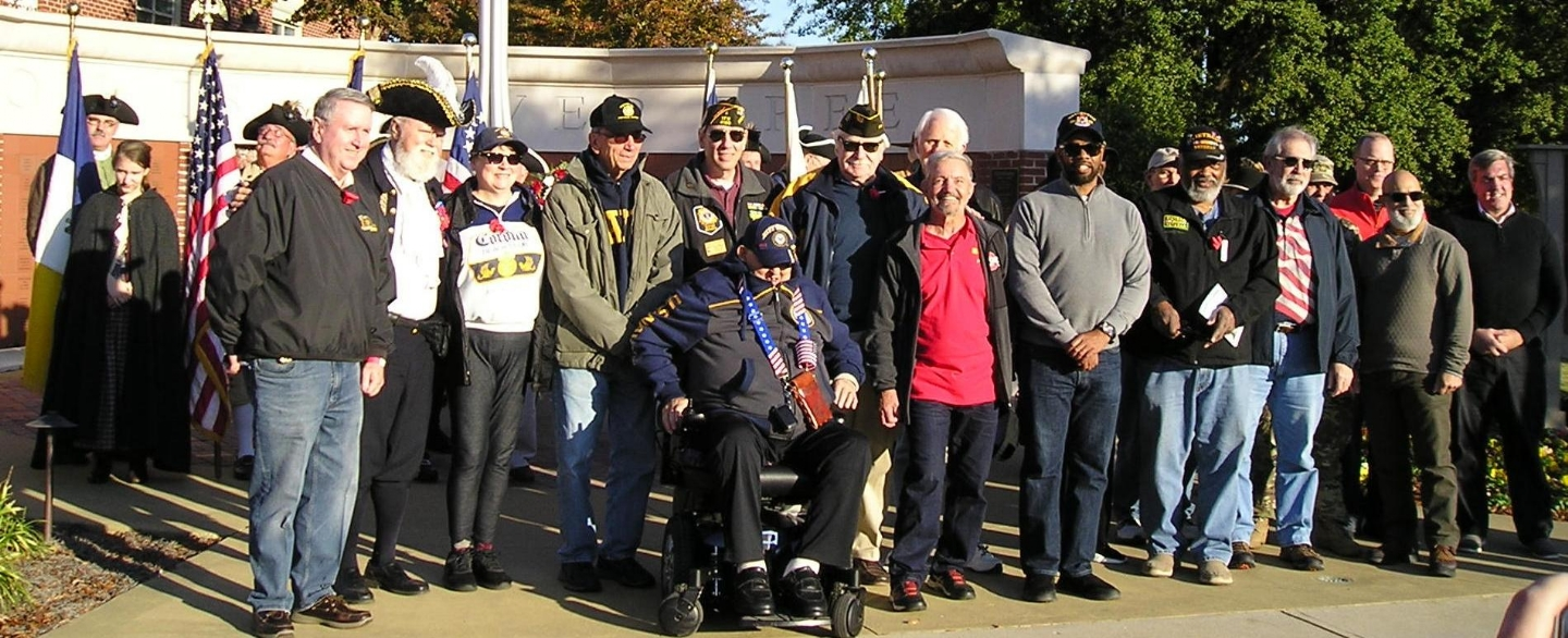 Sr. Vice Bob Varone, other Veterans and Snellville Officials at Snellville Veterans Day Ceremony