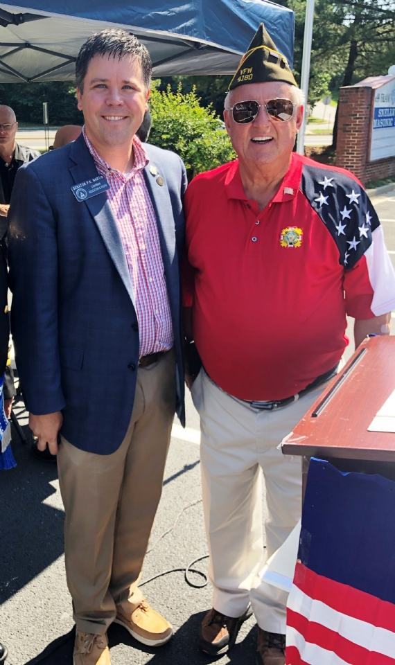 State Senator P.K. Martin and Post 4180 Commander Jim Jackson at 2019 Snellville Flag Day Ceremony