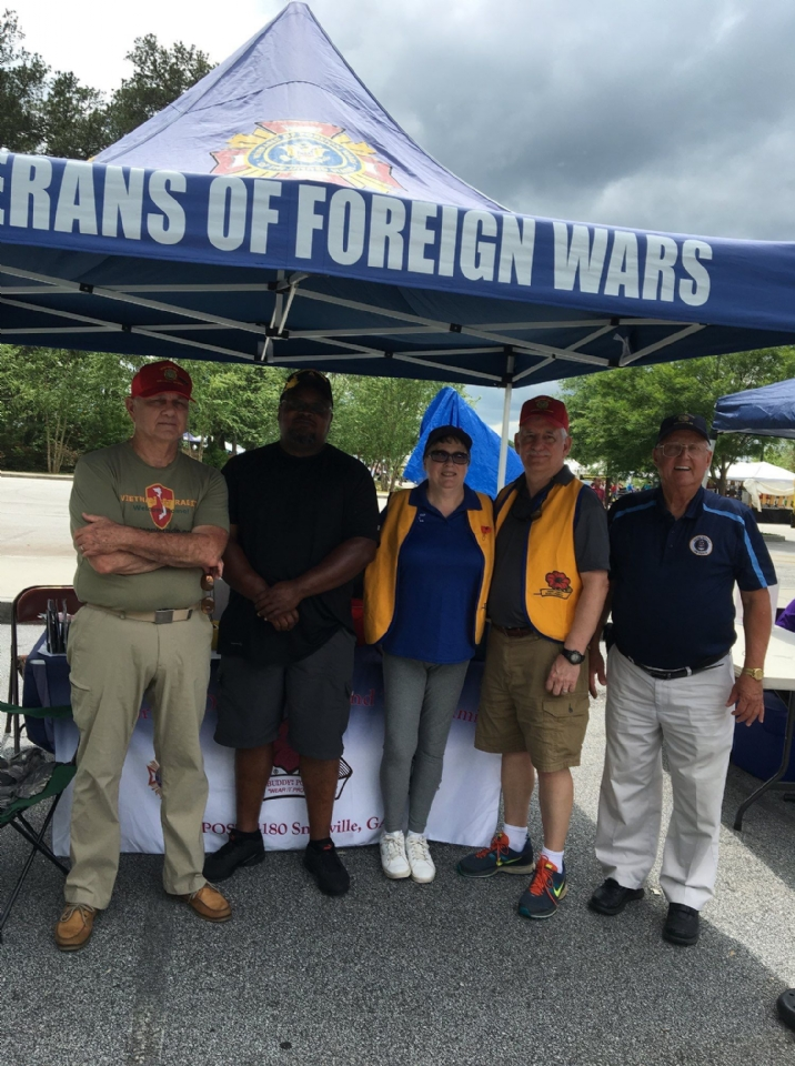 Post 4180 members held a recruitment drive during the annual Snellville Days Festival in May 2019 at Briscoe Park Snellville, Georgia