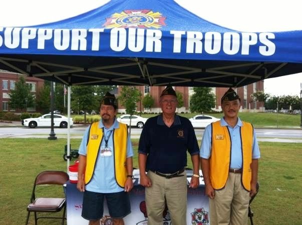 Post 4180 members hold a recruitment drive during Snellville Public Safety Night in June 2018