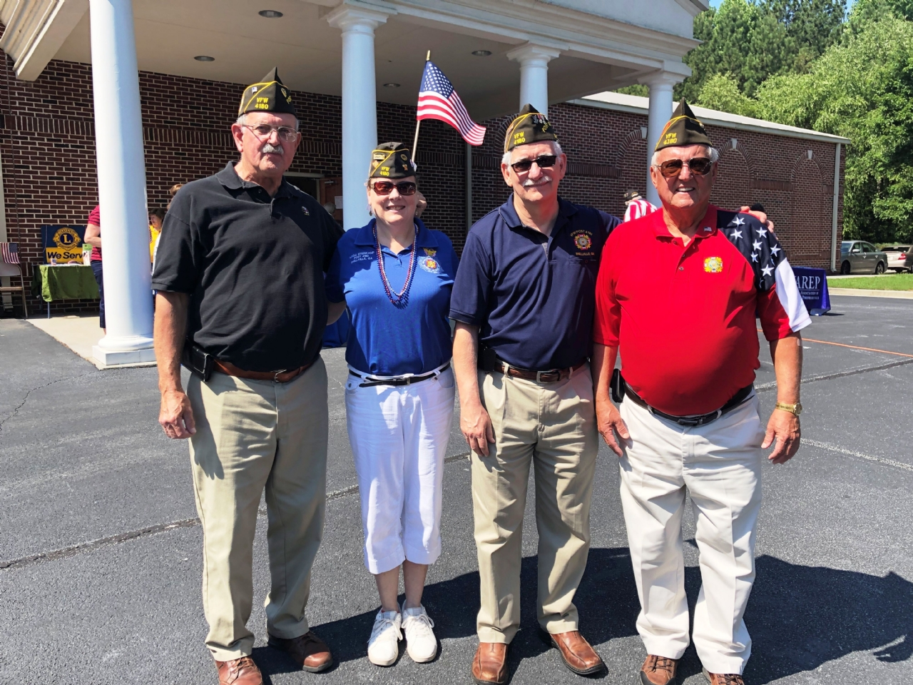 Post 4180 members take part in the Annual Snellville Flag Day Celebration June 15, 2019